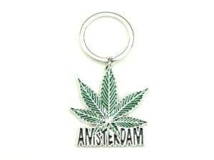 Keychain Amsterdam Weed Leaf