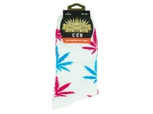Cannabis Socks White Blue and Pink 40-45