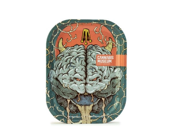 Cannabis Museum Bad Brain Rolling Tray - Small 18cmX14cm