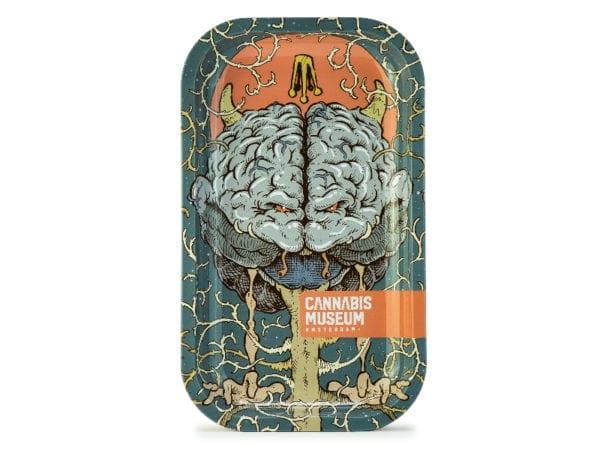 Cannabis Museum Bad Brain Rolling Tray - Medium 27cmX16cm