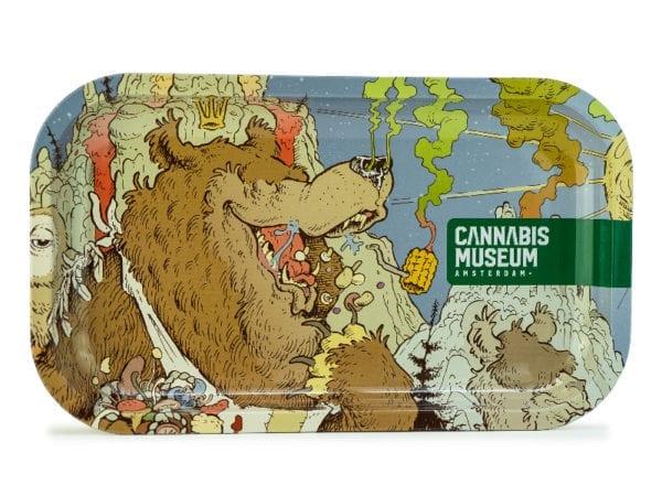 Cannabis Museum Bear Face Rolling Tray - Medium 27cmX16cm
