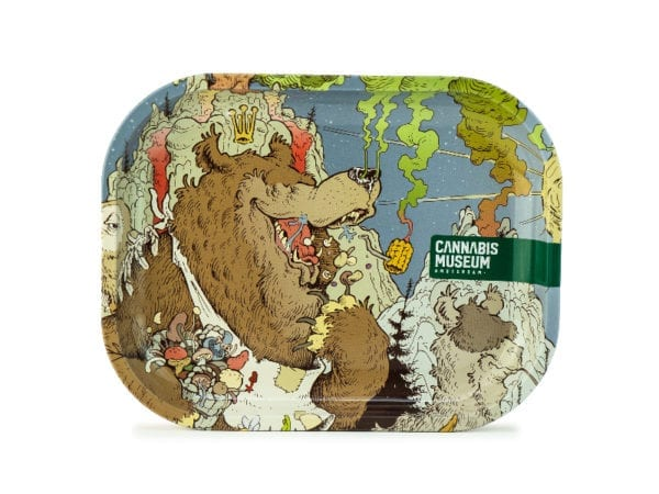 Cannabis Museum Bear Face Rolling Tray - Small 18cmX14cm