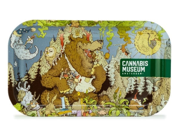 Cannabis Museum Bear Rolling Tray - Medium 27cmX16cm