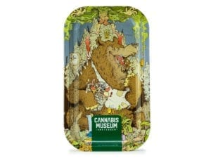 Cannabis Museum Bear Vert Rolling Tray - Medium 27cmX16cm