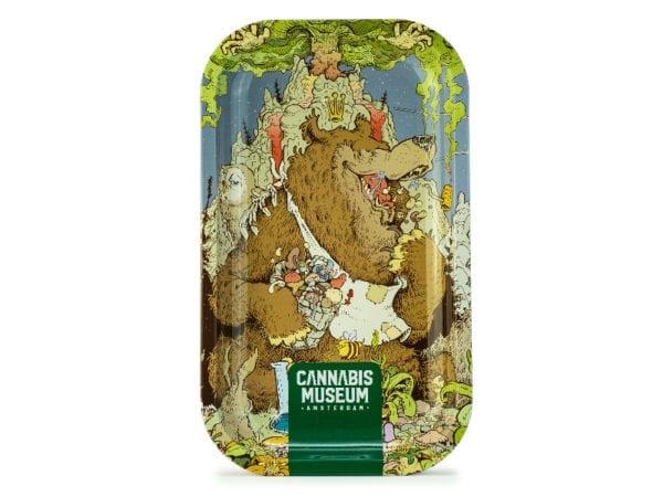 Cannabis Museum Bear Vert Rolling Tray - Medium 27cmX16cm