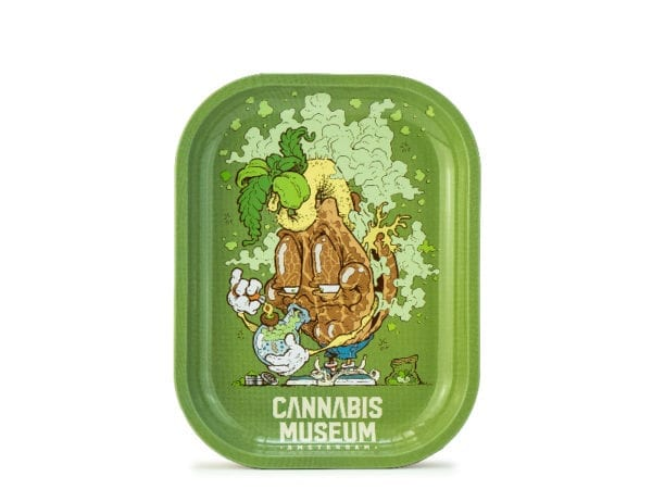 Cannabis Museum Bong Mascot Rolling Tray – Small 18cmX14cm