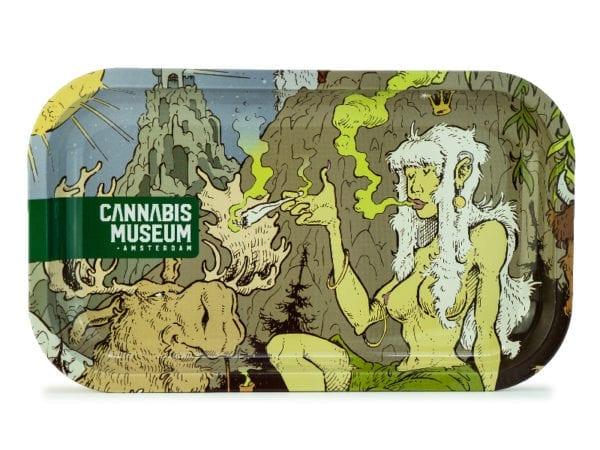 Cannabis Museum Girl Face Rolling Tray - Medium 27cmX16cm