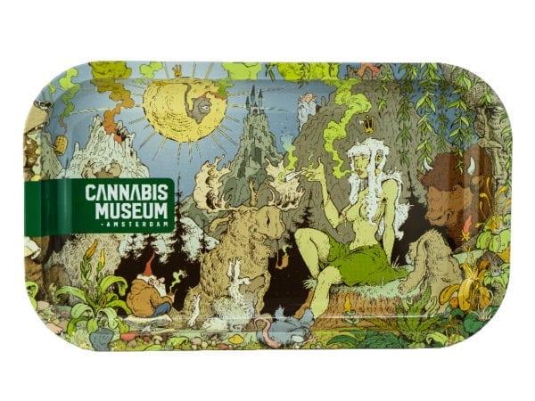 Cannabis Museum Girl Rolling Tray - Medium 27cmX16cm