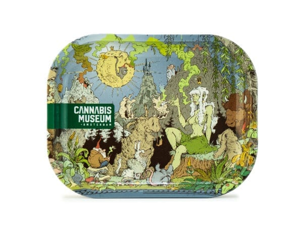 Cannabis Museum Girl Rolling Tray - Small 18cmX14cm