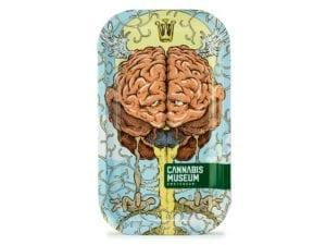 Cannabis Museum Good Brain Rolling Tray - Medium 27cmX16cm