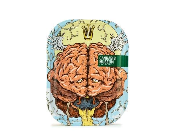 Cannabis Museum Good Brain Rolling Tray - Small 18cmX14cm