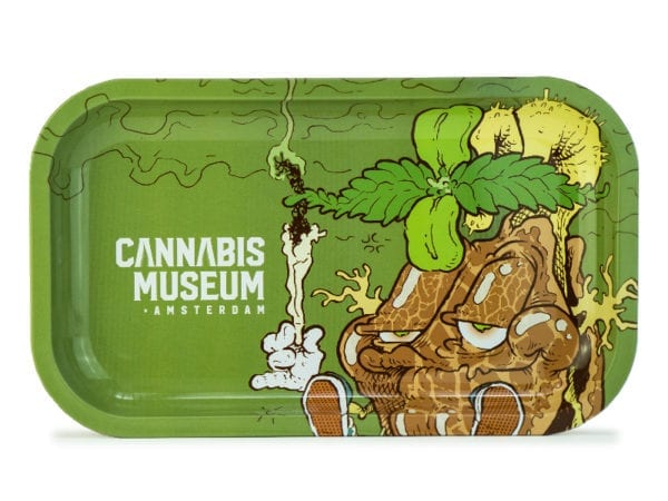 Cannabis Museum Joint Mascot Rolling Tray - Medium 27cmX16cm