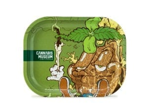 Cannabis Museum Joint Mascot Rolling Tray - Small 18cmX14cm