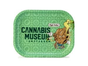 Cannabis Museum Logo And Mascot Rolling Tray – Small 18cmX14cm