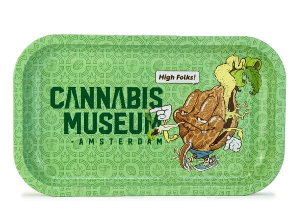 Cannabis Museum Logo Mascot Rolling Tray - Medium 27cmX16cm