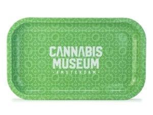 Cannabis Museum Logo Rolling Tray - Medium 27cmX16cm