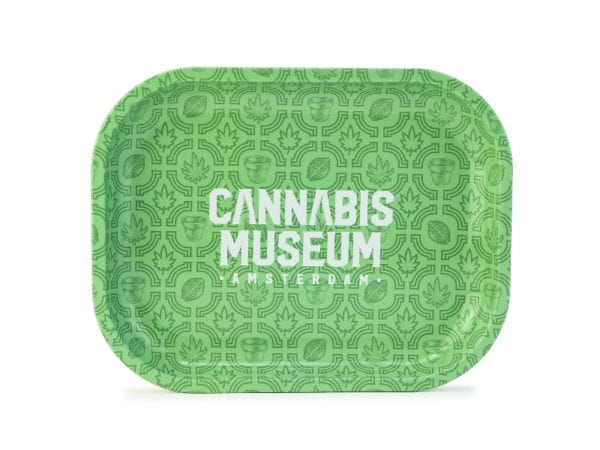 Cannabis Museum Logo Rolling Tray - Small 18cmX14cm