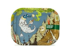 Cannabis Museum Moon Rolling Tray - Small 18cmX14cm