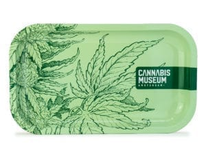 Cannabis Museum Plant Green Rolling Tray - Medium 27cmX16cm