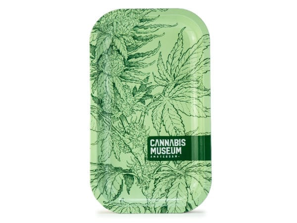 Cannabis Museum Plant Green Vert Rolling Tray - Medium 27cm