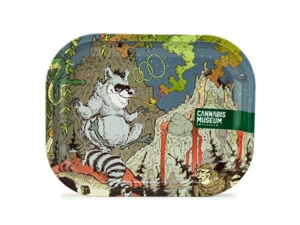 Cannabis Museum Raccoon Face Rolling Tray - Small 18cmX14cm