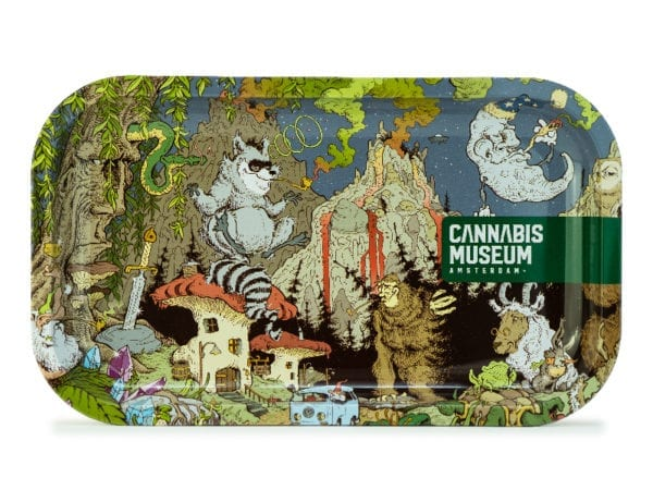 Cannabis Museum Raccoon Rolling Tray - Medium 27cmX16cm