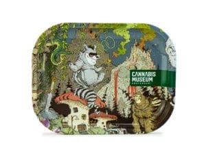 Cannabis Museum Raccoon Rolling Tray - Small 18cmX14cm