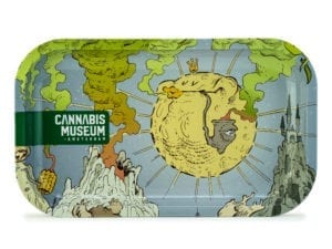 Cannabis Museum Sun Rolling Tray - Medium 27cmX16cm
