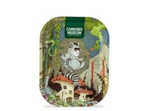 Cannabis Museum Raccoon Vert Rolling Tray – Small 18cmX14cm