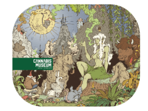 Cannabis Museum Girl Rolling Tray - Small 18cm
