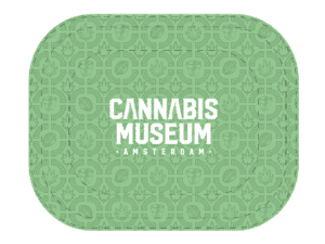 Cannabis Museum Logo Rolling Tray - Small 18cm