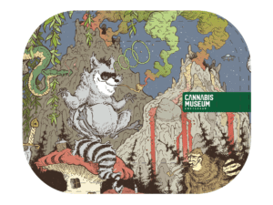 Cannabis Museum Racoon Face Rolling Tray - Small 18cm