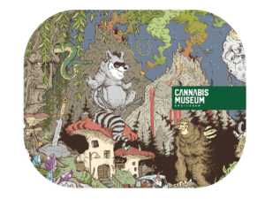 Cannabis Museum Racoon Rolling Tray - Small 18cm