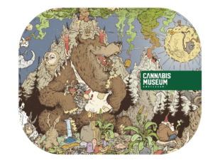 Cannabis Museum Bear Rolling Tray - Small 18cm