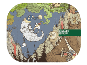 Cannabis Museum Moon Rolling Tray - Small 18cm
