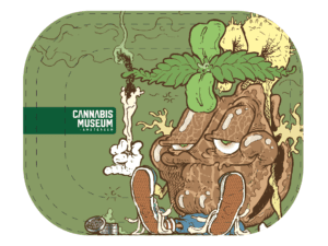 Cannabis Museum Mascot Rolling Tray - Small 18cm