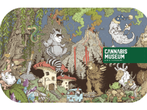 Cannabis Museum Racoon Rolling Tray - Medium 27cm