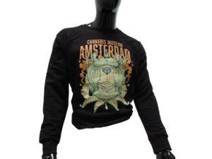 Sweater - Cannabis Museum Bear - Black